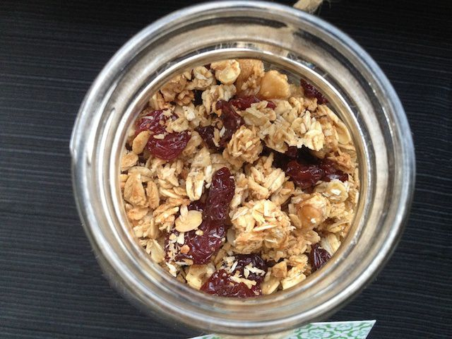 granola in jar