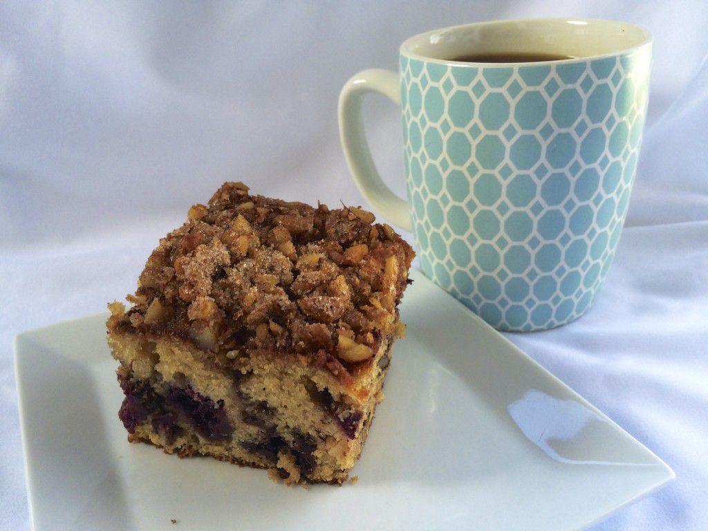 Blackberry Walnut Coffee Cake