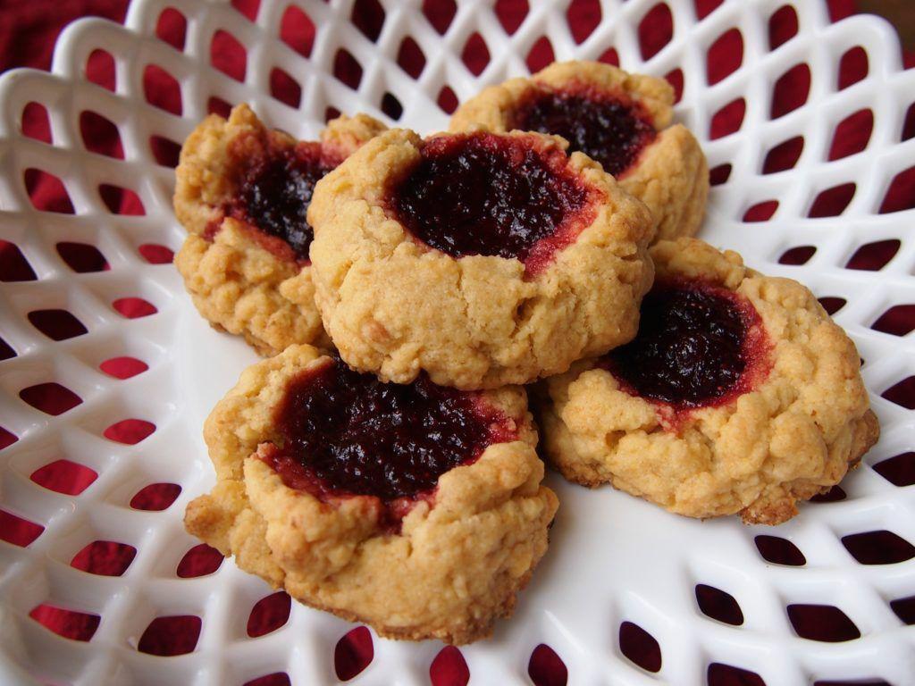 Walnut Strawberry Jam Scones