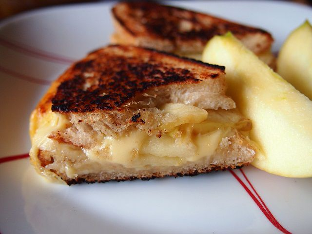 Grilled Butterkase and Apples