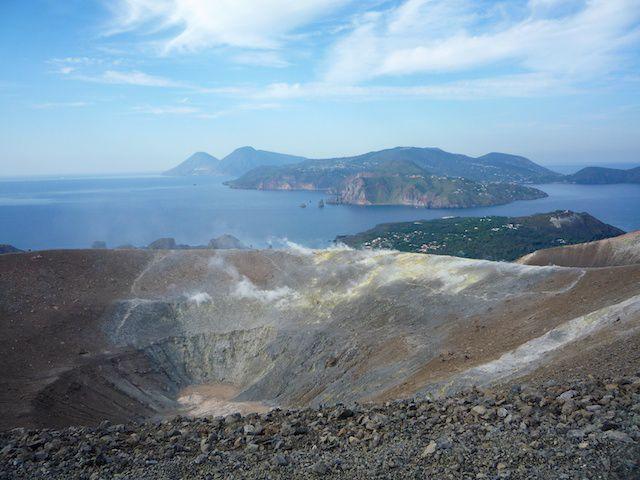 crater at vulcano