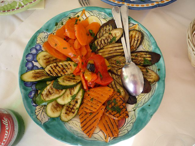 grilled veggie plate