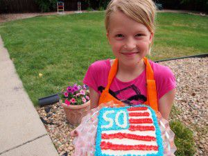 Addison and her cake