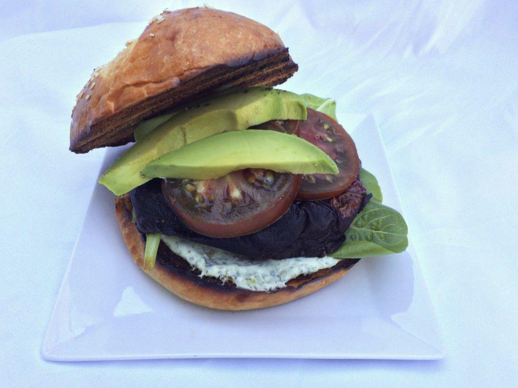 herby portobello sandwich
