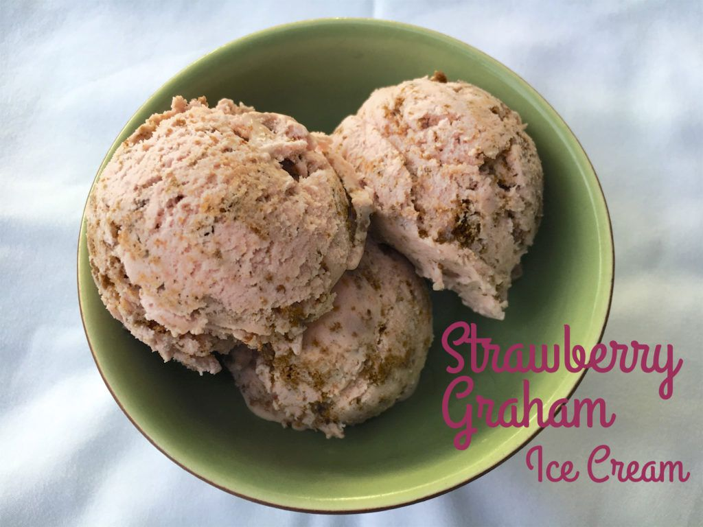 strawberry graham ice cream