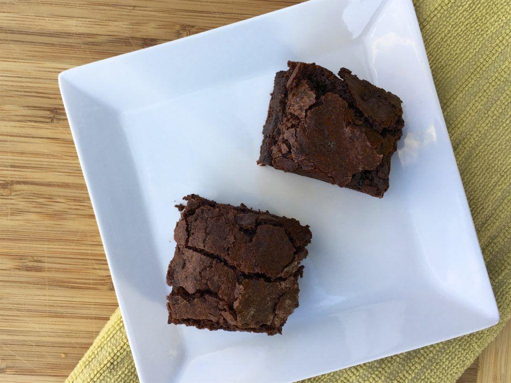 crispy chewy brownies