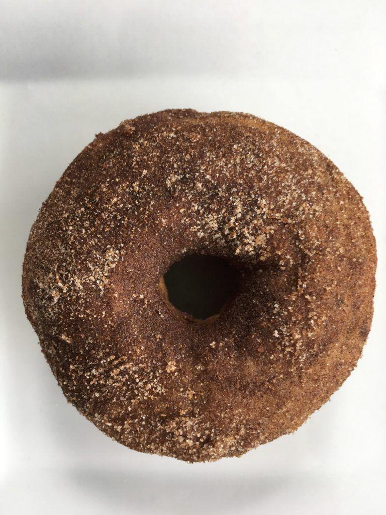 baked banana cinnamon doughnut