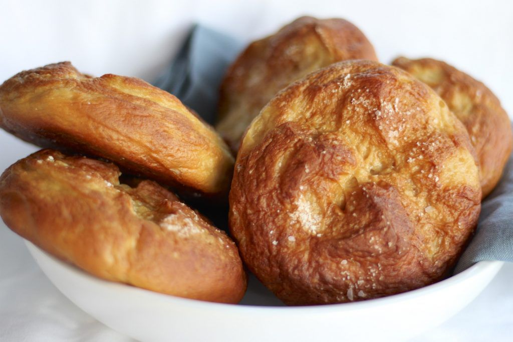 soft and chewy pretzel roll