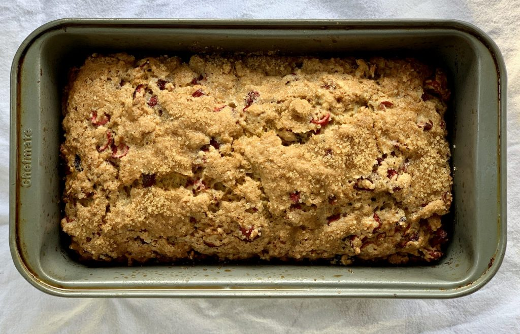 freshly baked cranberry bread
