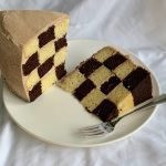 Chocolate Cinnamon Checkerboard Cake