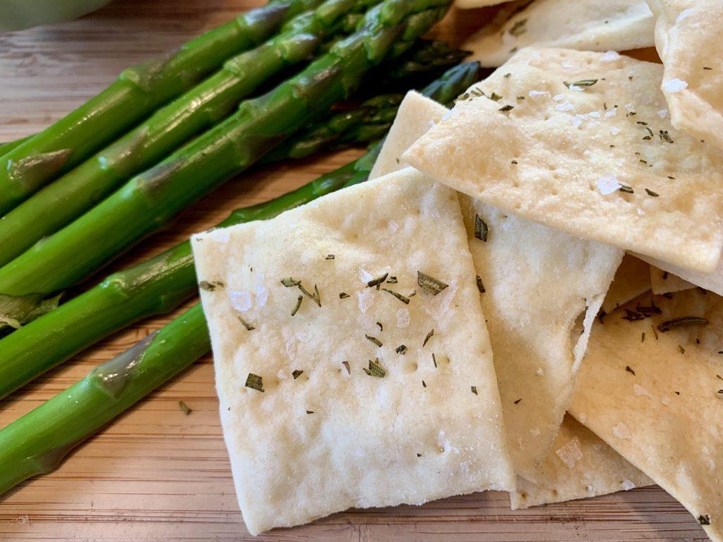 Rosemary Sea Salt Sourdough Crackers