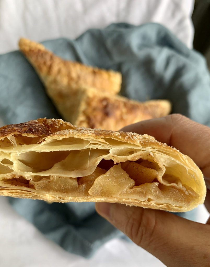 apple turnover close up